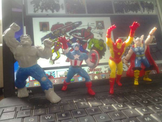 Image for the Avengers action figures  Iron-man,Thor,Capt.America and the incredible Hulk