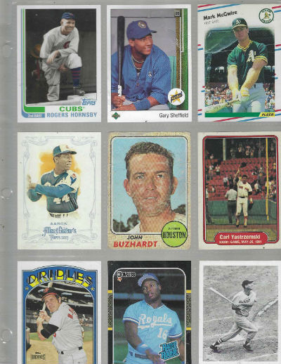 Image for Baseball trading cards:assortment of 9 random yet interesting
