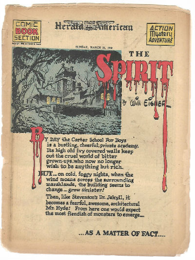 Image for The Spirit,the herald examiner comc book section march 31st.1946