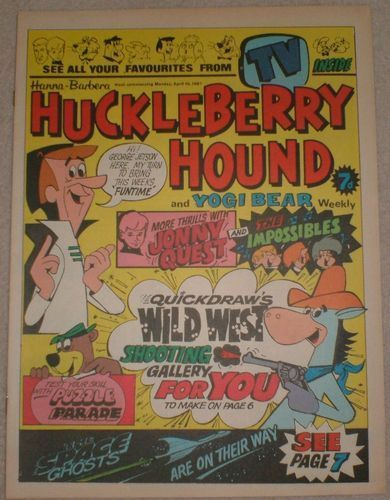 Image for HUCKLEBERRY HOUND & YOGI BEAR WEEKLY UK COMIC 10th APRIL 1967 TOP CONDITION