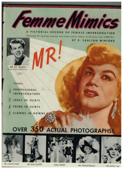 Image for FEMME MIMICS. A Pictorial Record of Female Impersonators Book Number One.With a signed letter to her daughter adhered to the FEP