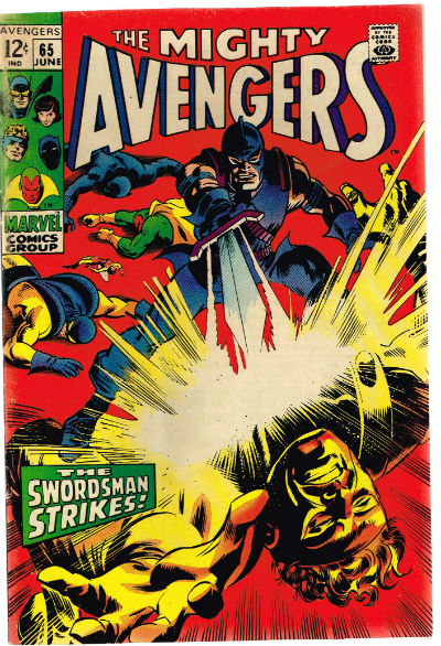 "Image for the Avengers #65;June,1969""The Swordman strikes"""