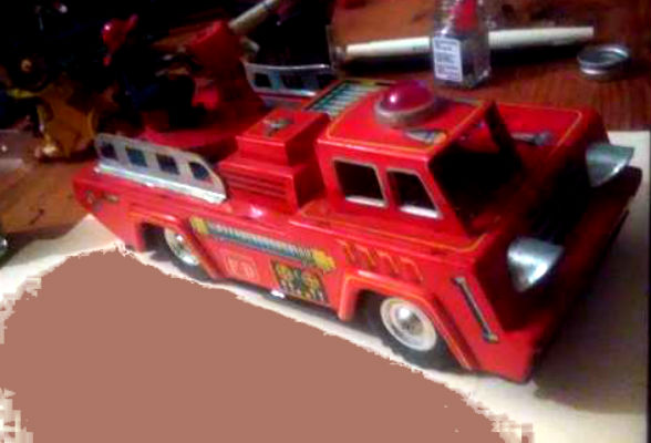 "Image for ""K"" Fire truck PUMPER-tin"