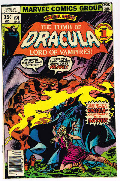 Image for Tomb Of Dracula #64 VF- 7.5 Gene Colan Art!!