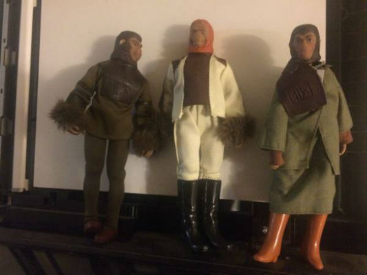 Image for 3 planet of the Apes action figures:Doctor Zaius,Cornelius and doctor Uhuru