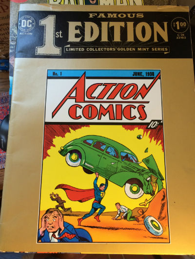 Image for Famous First Edition # C-26 Action Comics #1 Paperback – 1974  by Siegel & Shuster (Author)