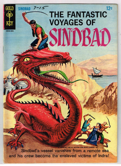 Image for FANTASTIC VOYAGES OF SINDBAD, THE (GOLD KEY) #1    1965-1967  |    VOLUME 1  |    Western (Gold Key/Whitman)