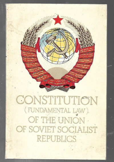 Image for Constitution (Fundamental Law) of the Union of Soviet Socialist Republics