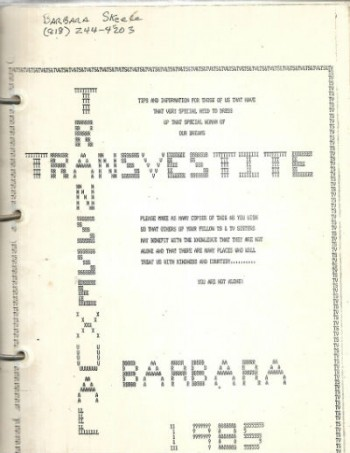 Image for Transvestite/Transexual 1985 Manuscript of 107 pages in loose leaf format/spiral bound
