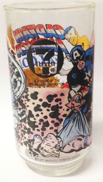 Image for 1977 Marvel Comics 7-11 7 Eleven Captain America Falcon Drinking Glass