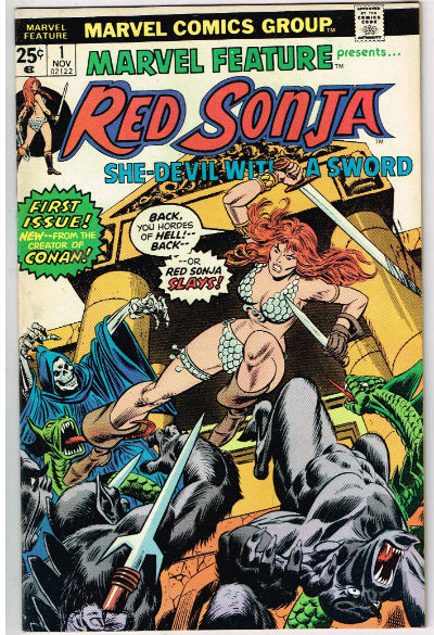 Image for MARVEL FEATURE #1 presents Red Sonja;she devil with a sword based on the stories by Robert E.Howerd    1975
