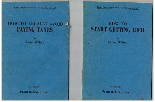 Image for Plain language moneymaking book no.1 thru 3;book 1,How to start getting rich;book 2,How to legally avoid paying taxes and book 3.How to get twice as much bank interest.