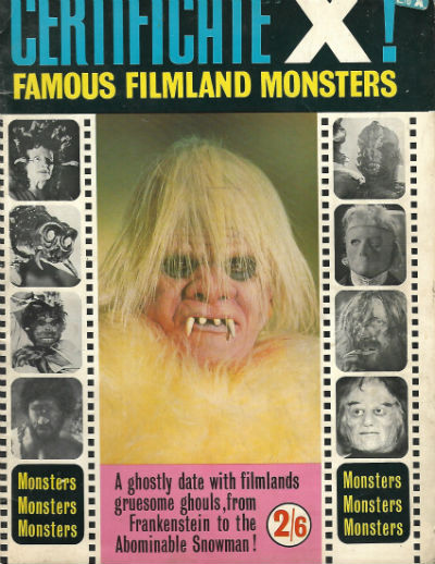 Image for Certificate X!  Famous Filmland Monsters  World Distributors Ltd.  Editor: Unknown  Jan. 1965