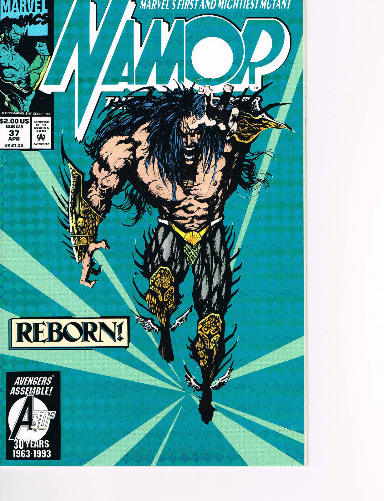 Image for NAMOR, THE SUB-MARINER, REBORN! # 37, APRIL 1993