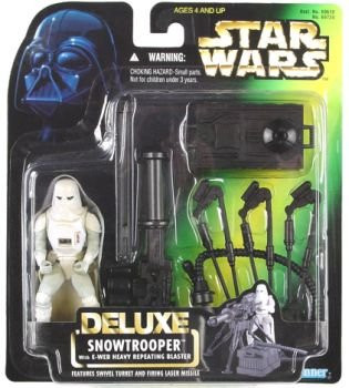 Image for Star Wars The Power Of The Force Deluxe Snowtrooper with E Web Heavy Repeating Blaster by Kenner   Star Wars DELUXE Snowtrooper – MIP
