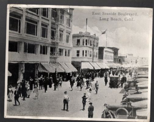 Image for east seaside boulevard, long beach, California.vintage photo 1920