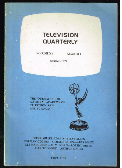 Image for Television Quarterly vol.XV#1  spring,1978