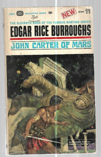Image for Edgar Rice Burroughs:John Carter of Mars book no.11 of the famous Martian series.