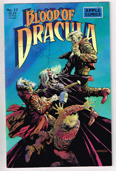 Image for Blood of Dracula no.17  signed by Berni Wrightson