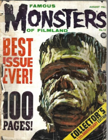 Image for FAMOUS MONSTERS #13 - HTF early issue ! HAPPY HALLOWEEN
