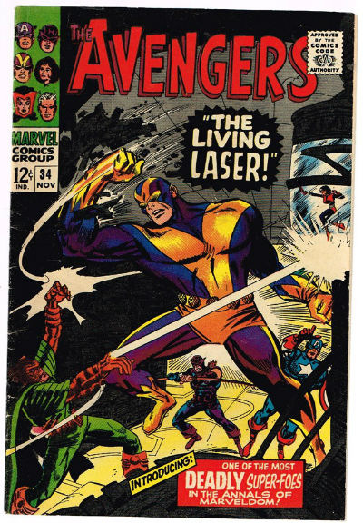 Image for The Avengers #34    The Avengers » The Avengers #34 - The Living Laser released by Marvel on November 1, 1966.