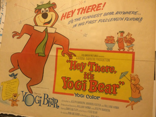 "Image for Very Scarce""Hey there,it's Yogi Bear"" Movie Poster 64/193"